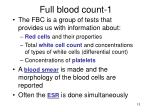 full blood count 1
