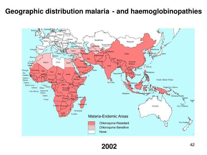 Geographic distribution malaria