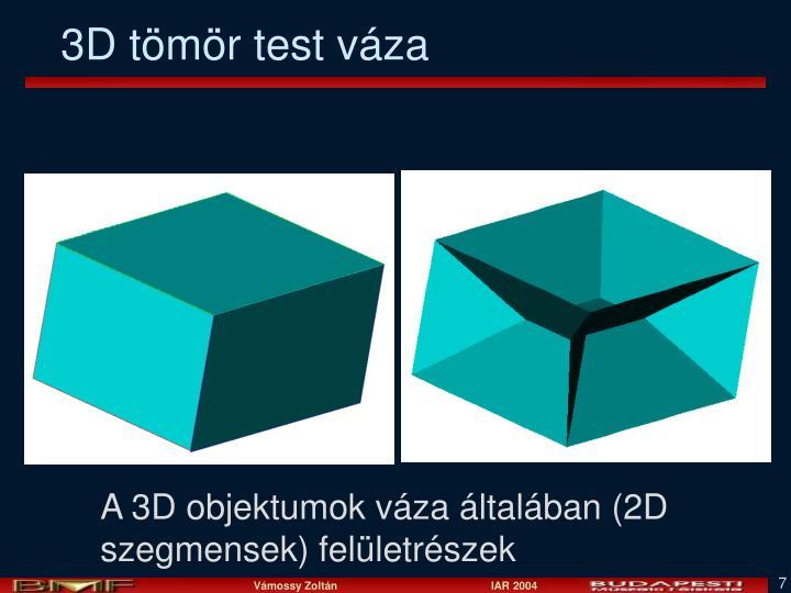 3D tömör test váza