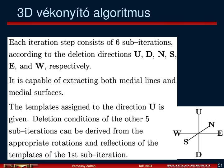 3D vékonyító algoritmus