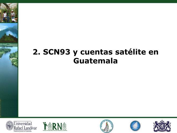 2. SCN93 y cuentas satélite en Guatemala
