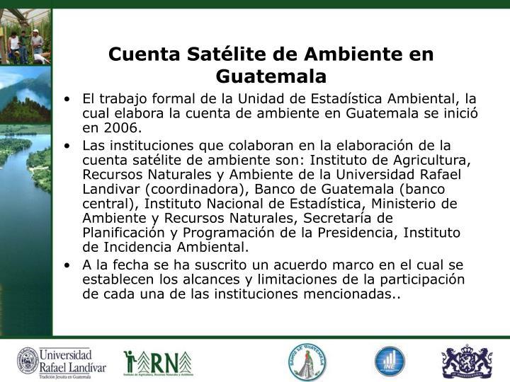 Cuenta Satélite de Ambiente en Guatemala