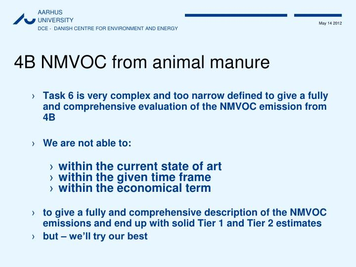 4B NMVOC from animal manure