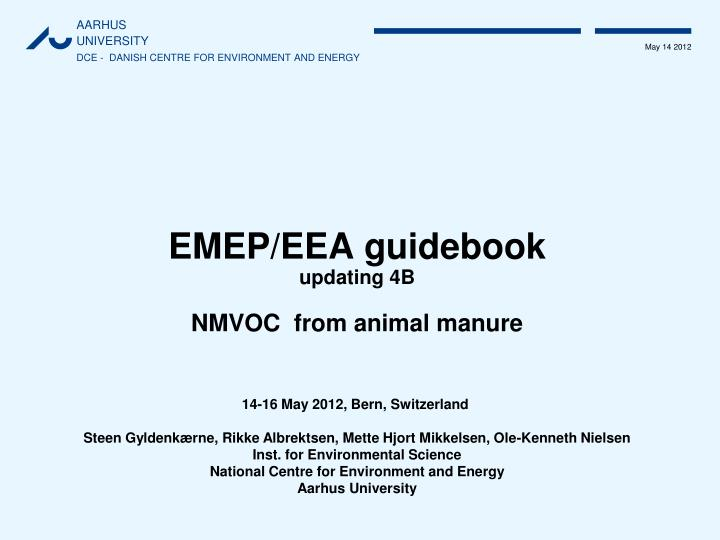 EMEP/EEA guidebook
