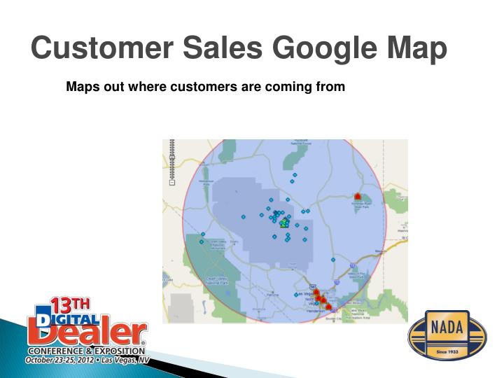 Customer Sales Google Map
