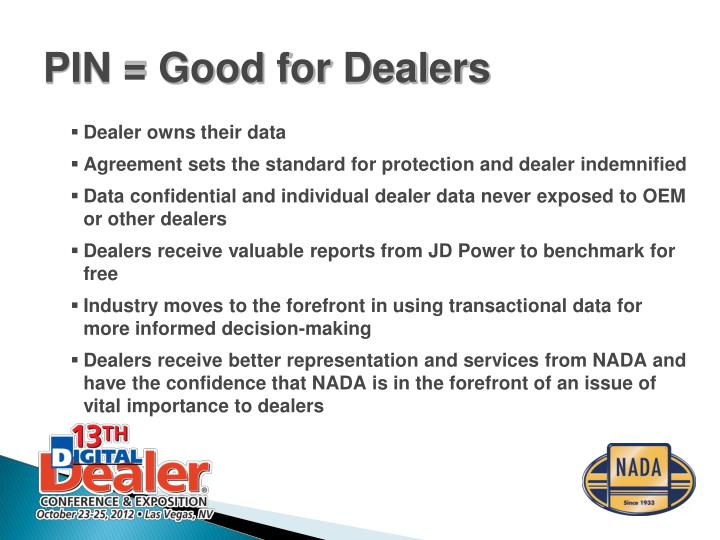 Dealer owns their data