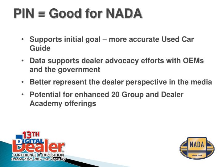 Supports initial goal – more accurate Used Car Guide
