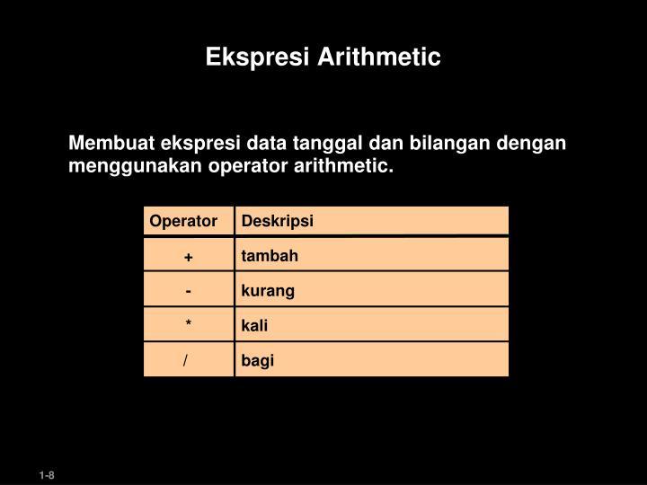 Ekspresi Arithmetic