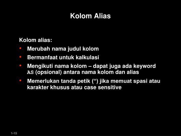 Kolom Alias