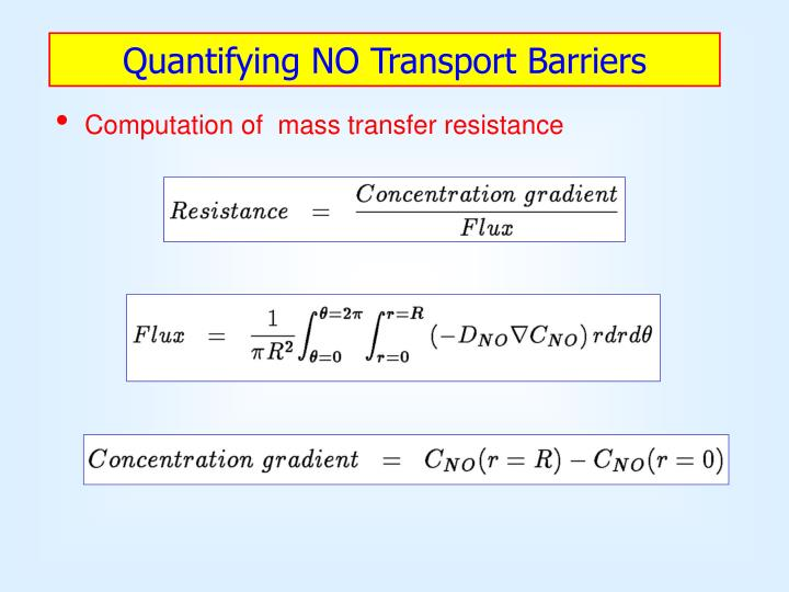 Quantifying NO Transport Barriers