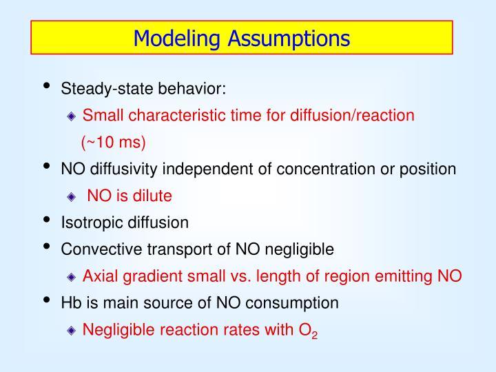 Modeling Assumptions