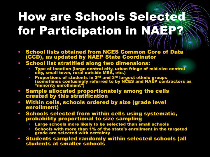 How are Schools Selected for Participation in NAEP?