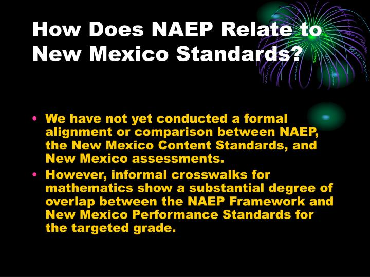 How Does NAEP Relate to New Mexico Standards?