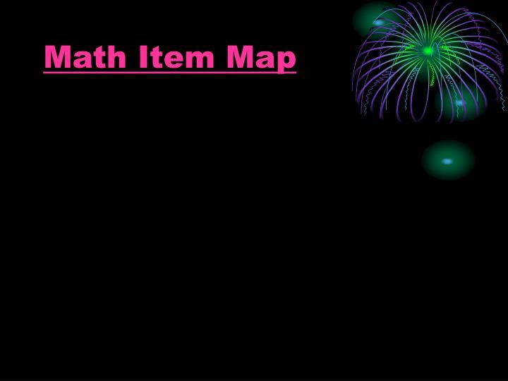 Math Item Map