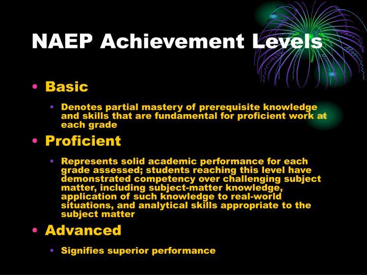 NAEP Achievement Levels