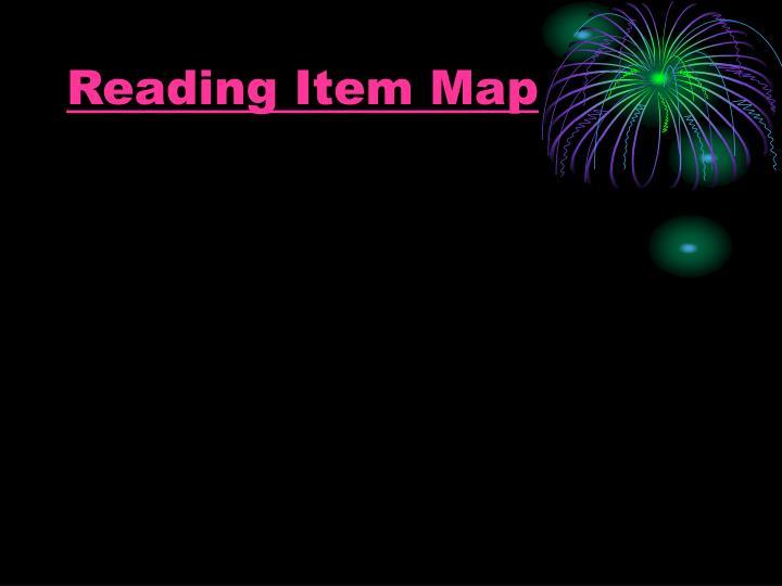 Reading Item Map