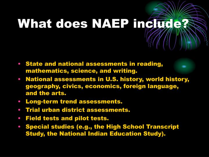 What does NAEP include?