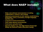 what does naep include
