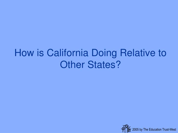 How is California Doing Relative to Other States?
