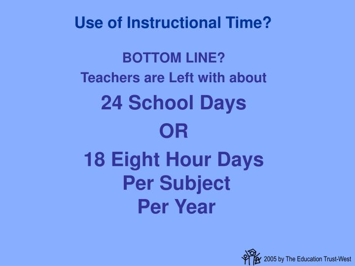 Use of Instructional Time?