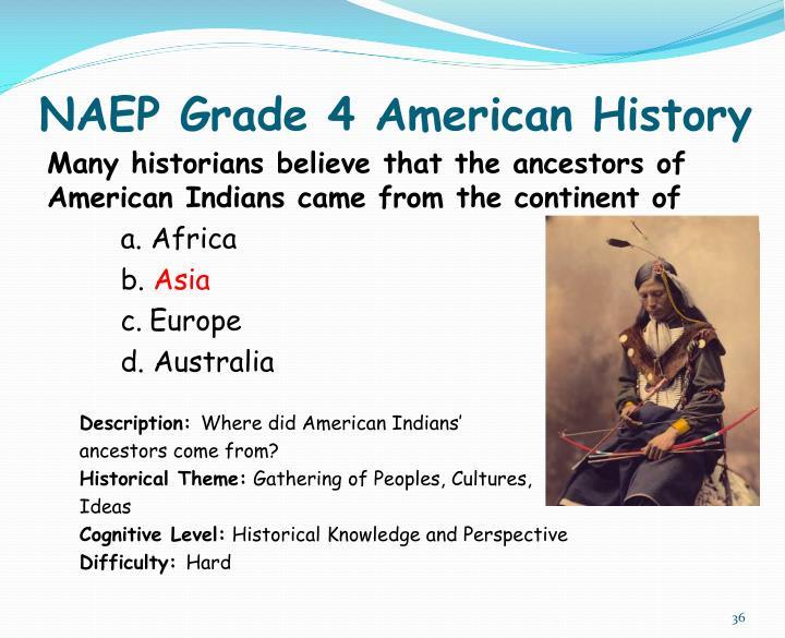 NAEP Grade 4 American History