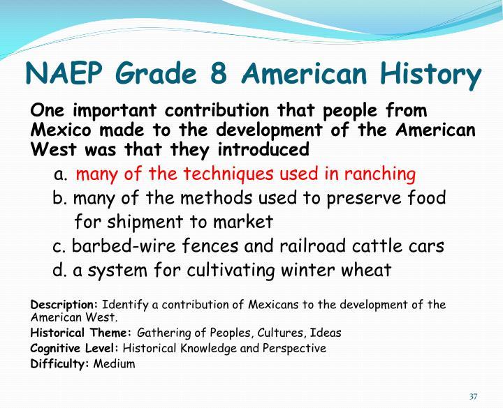 NAEP Grade 8 American History