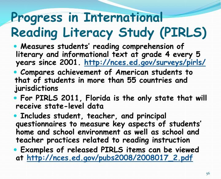 Progress in International Reading Literacy Study (PIRLS)