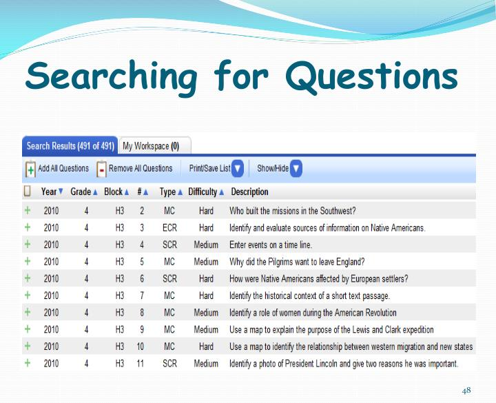 Searching for Questions