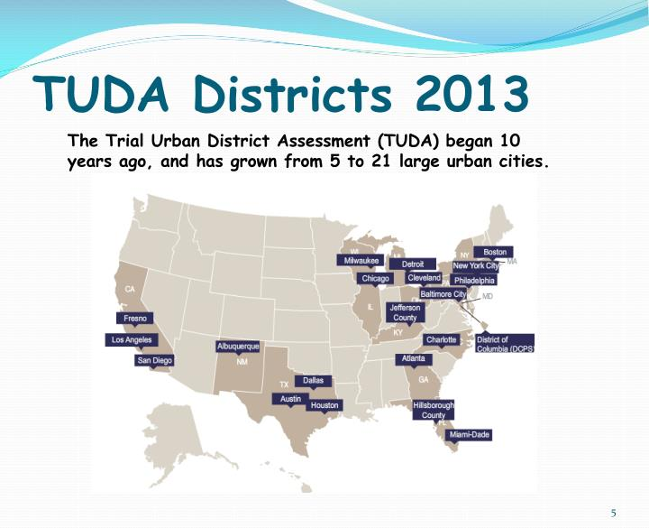 TUDA Districts 2013