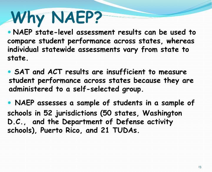 Why NAEP?