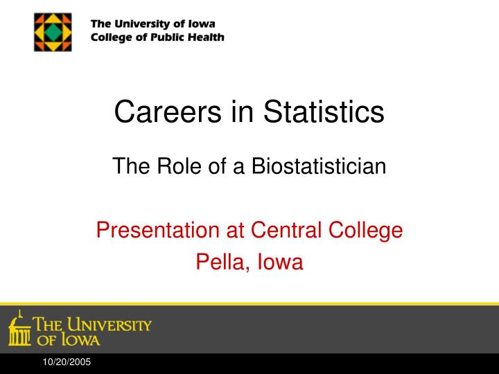 Careers in statistics