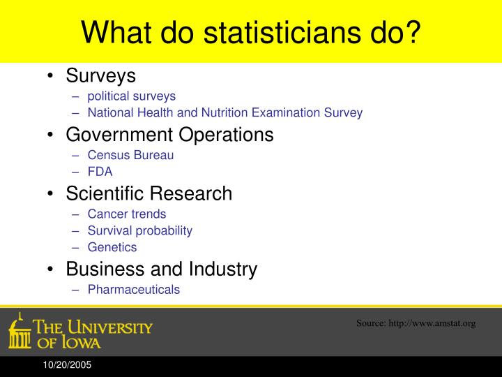 What do statisticians do?