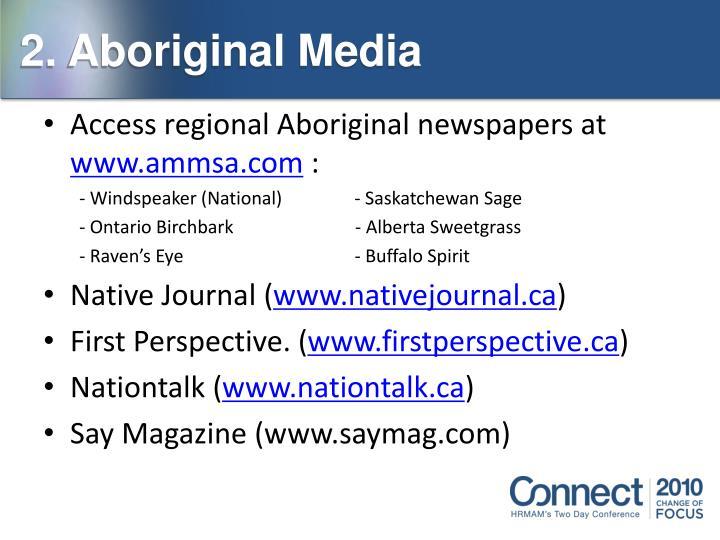 2. Aboriginal Media