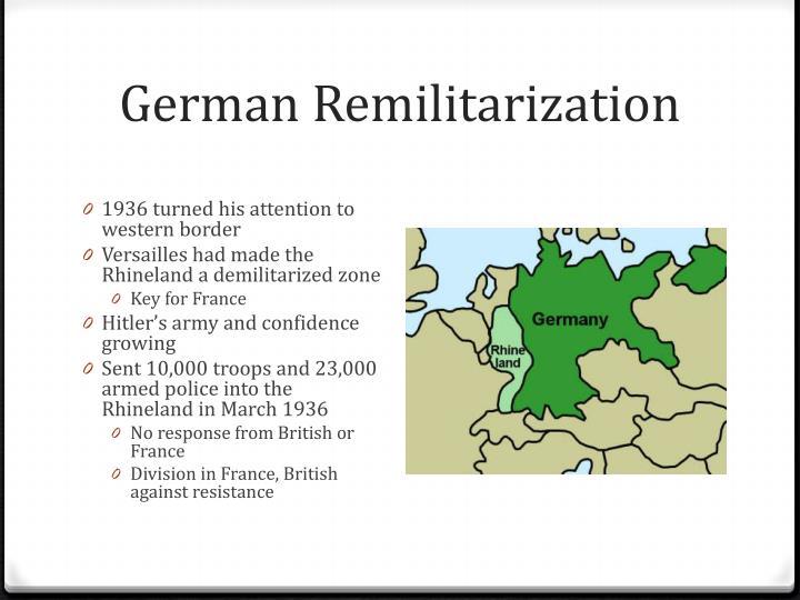 German Remilitarization