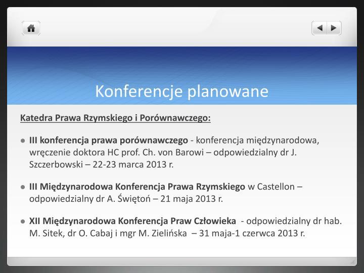 Konferencje planowane