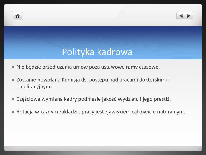 Polityka kadrowa