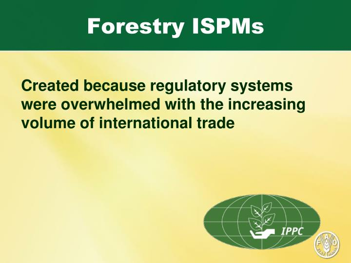 Forestry ispms