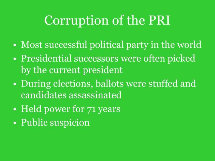 Corruption of the PRI