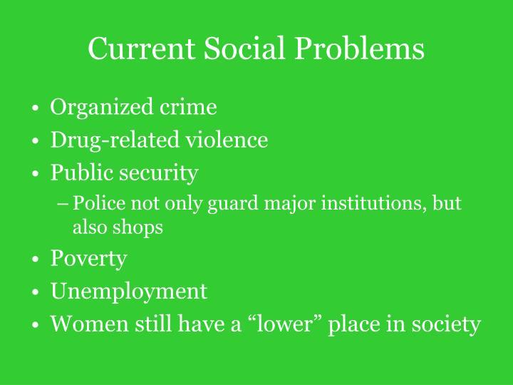 Current Social Problems