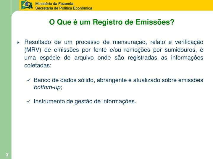 O Que é um Registro de Emissões?