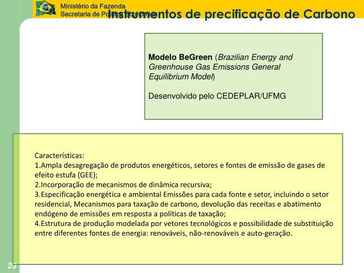 Instrumentos de precificação de Carbono