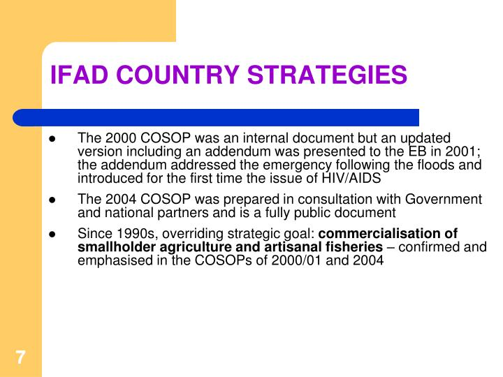 IFAD COUNTRY STRATEGIES