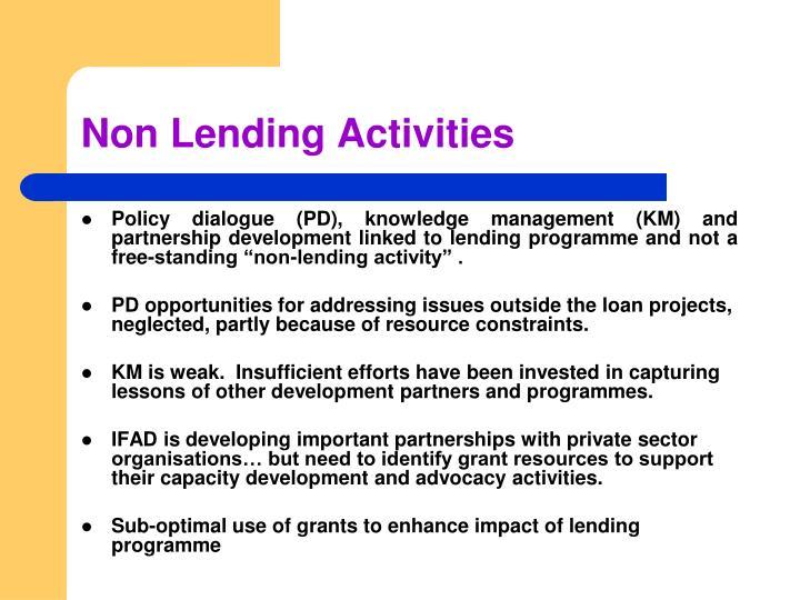 Non Lending Activities