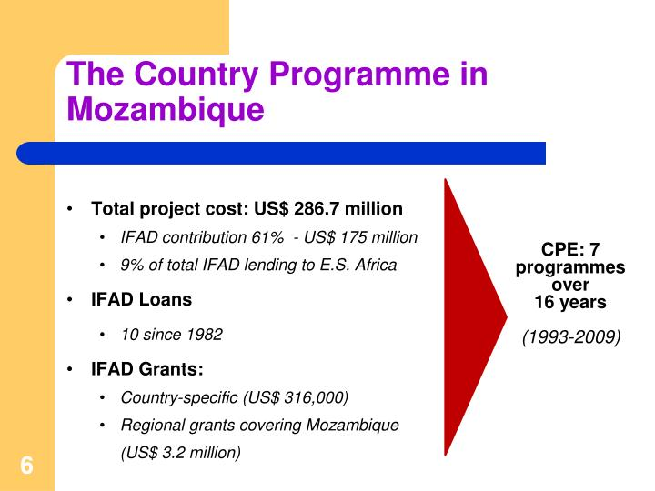 The Country Programme in Mozambique