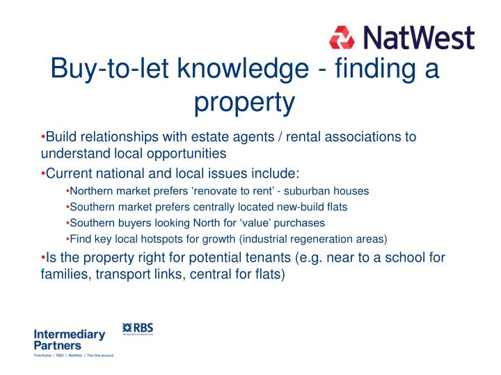 Buy-to-let knowledge - finding a property