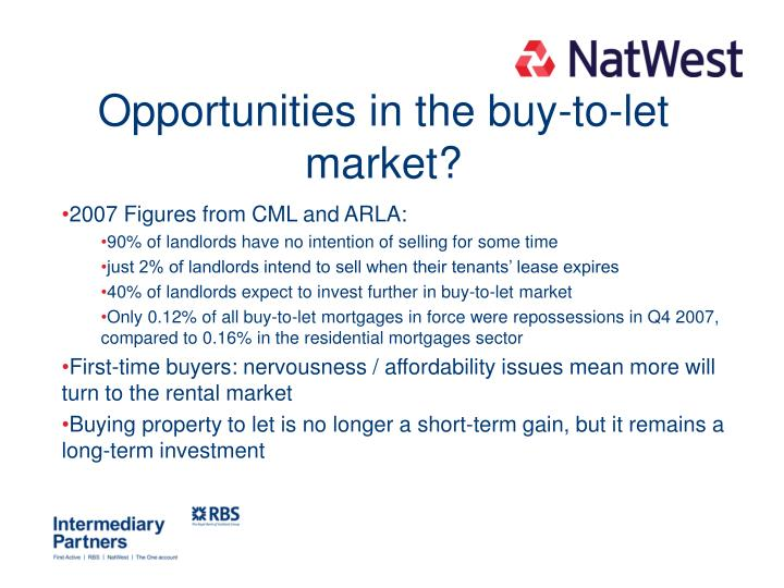 Opportunities in the buy-to-let market?