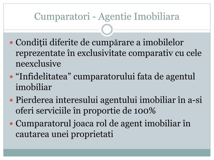 Cumparatori - Agentie Imobiliara