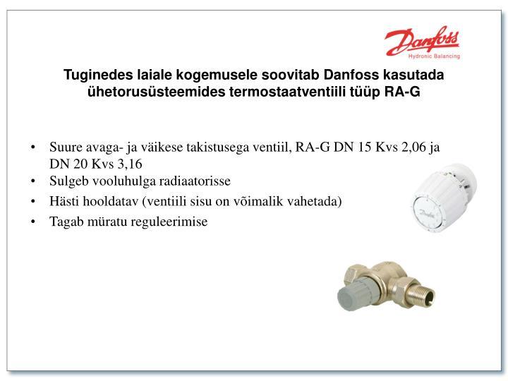 Suure avaga- ja väikese takistusega ventiil, RA-G DN 15 Kvs 2,06 ja