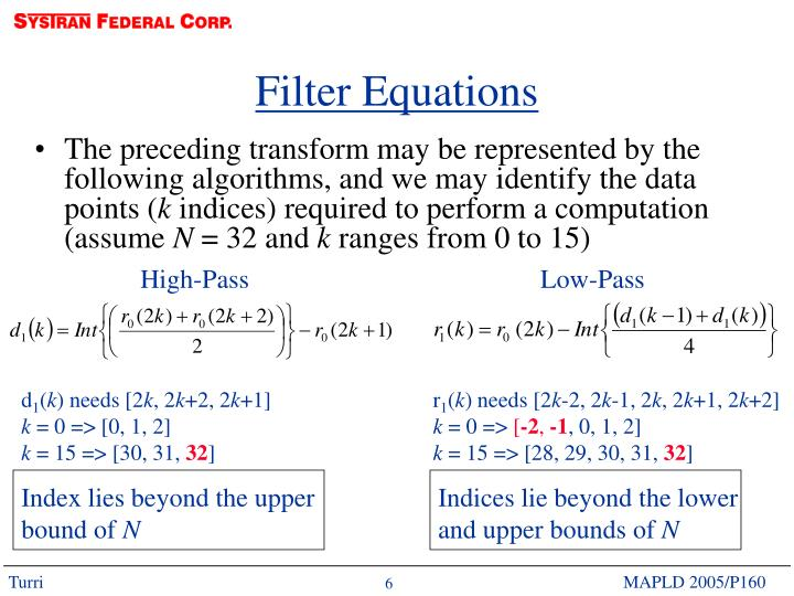 Filter Equations