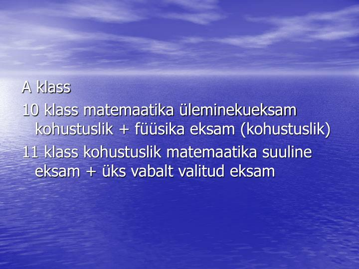 A klass